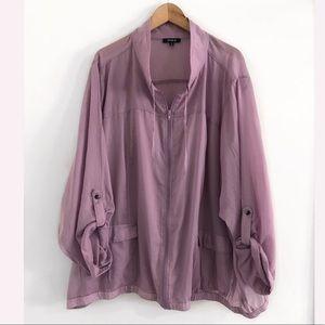 Torrid light jacket Top Blouse Shirt Size 6X